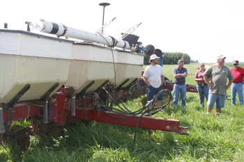 Strip-Till Equipment at Abel's Farm Field Day