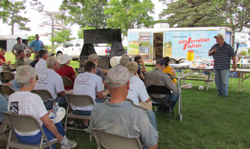 Field Day held on Caviness Farm July 2011