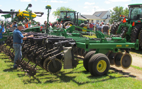 John Deere Tractor at Field Day held on Norby Farm in 2012