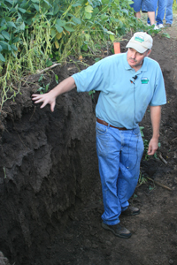 Root Structure pit on Ronsiek Farm