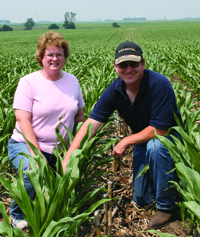 Joel and Lina Zwiefel in field