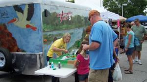 Conservation Station 3 Trailer at Ames Farmers Market