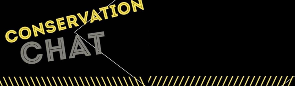 Black and yellow conservation chat banner